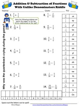 43++ Adding and subtracting unlike fractions worksheets Most Effective