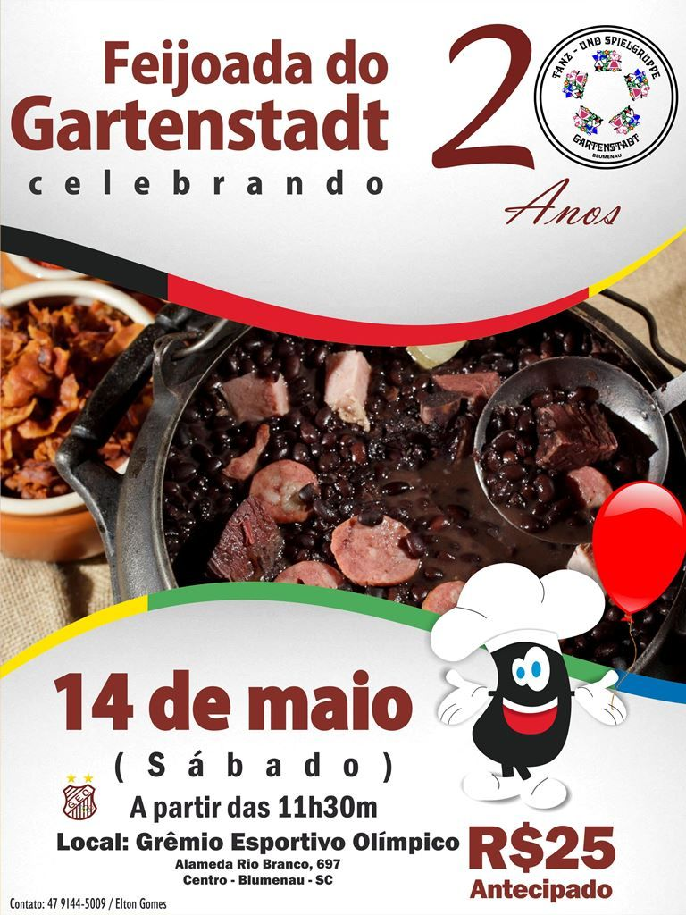 Feijoada Gartenstadt 2016 cartaz