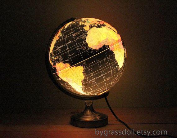 Awesome Vintage Illuminate Black Ocean Globe Lamp , Scan   Globe A/S , Made In  Denmark