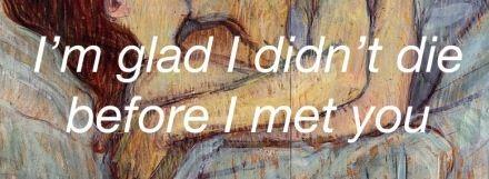 #I'm glad...