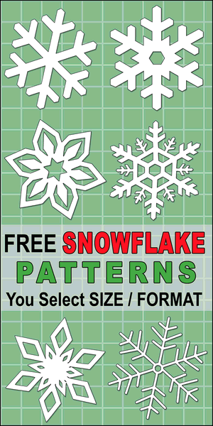 Snowflake Templates (Printable Stencils and Patterns)