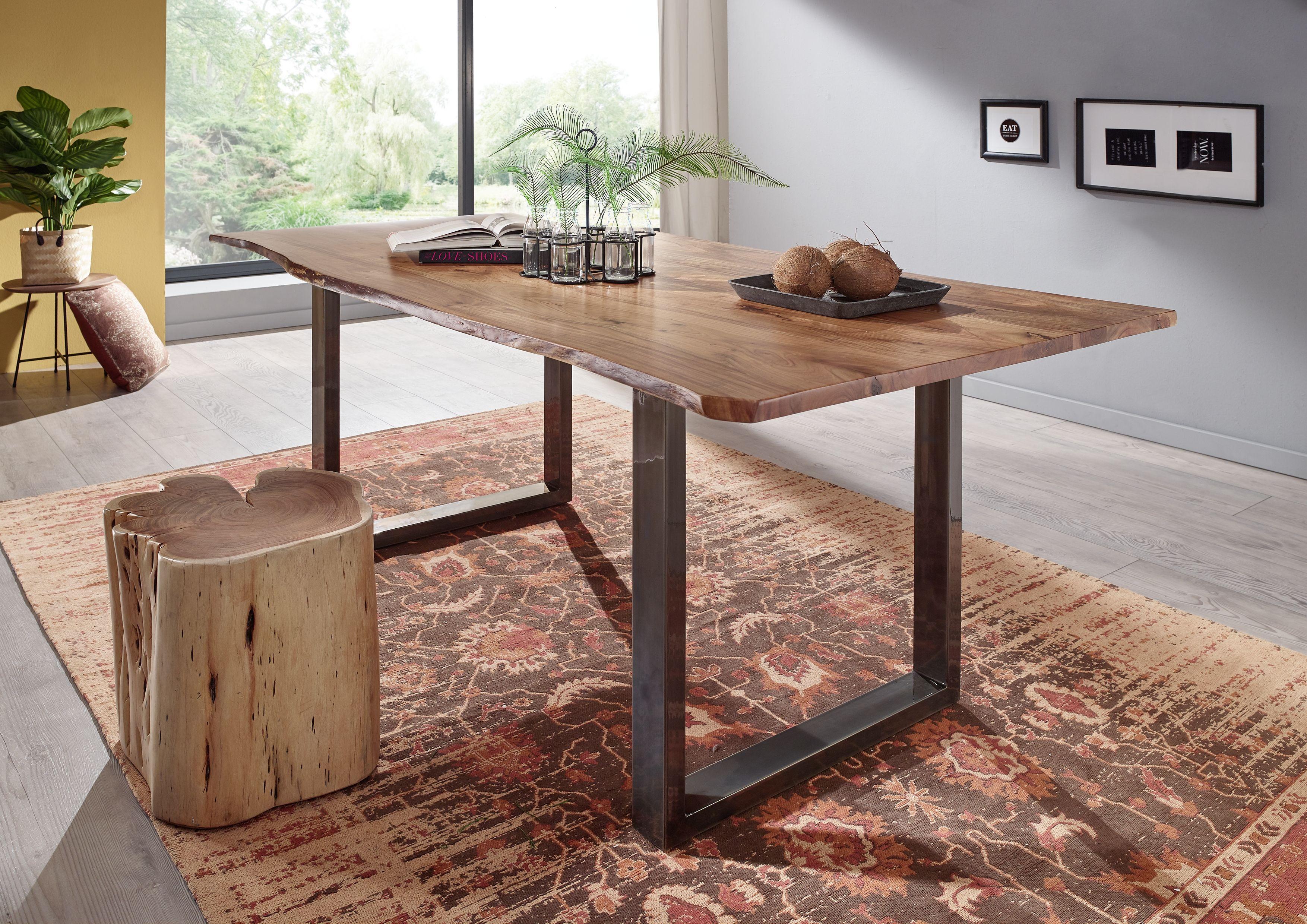 baumstamm m bel aus massivholz drewno pinterest echtholztisch massivholztisch und holztisch. Black Bedroom Furniture Sets. Home Design Ideas