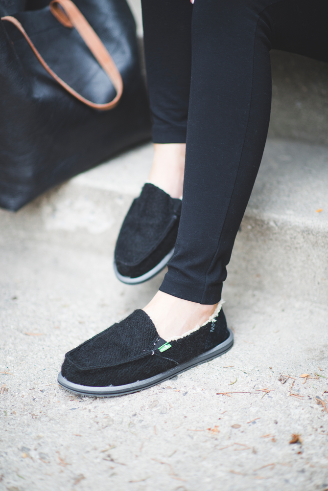 d04579842fa Add cozy to any outfit with the Sanuk KimBrrr Sidewalk Surfers. Photo from  the Little Miss Fearless blog.