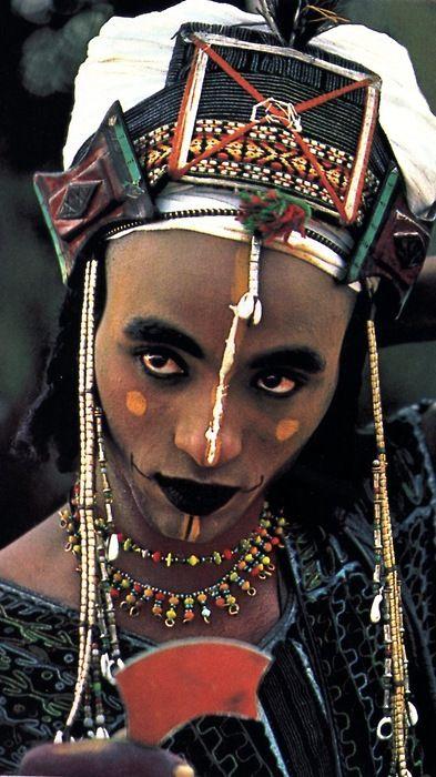 Tribal Beauty Pageant - Wodaabe Man. Please like http://www.facebook.com/RagDollMagazine and follow @RagDollMagBlog @priscillacita
