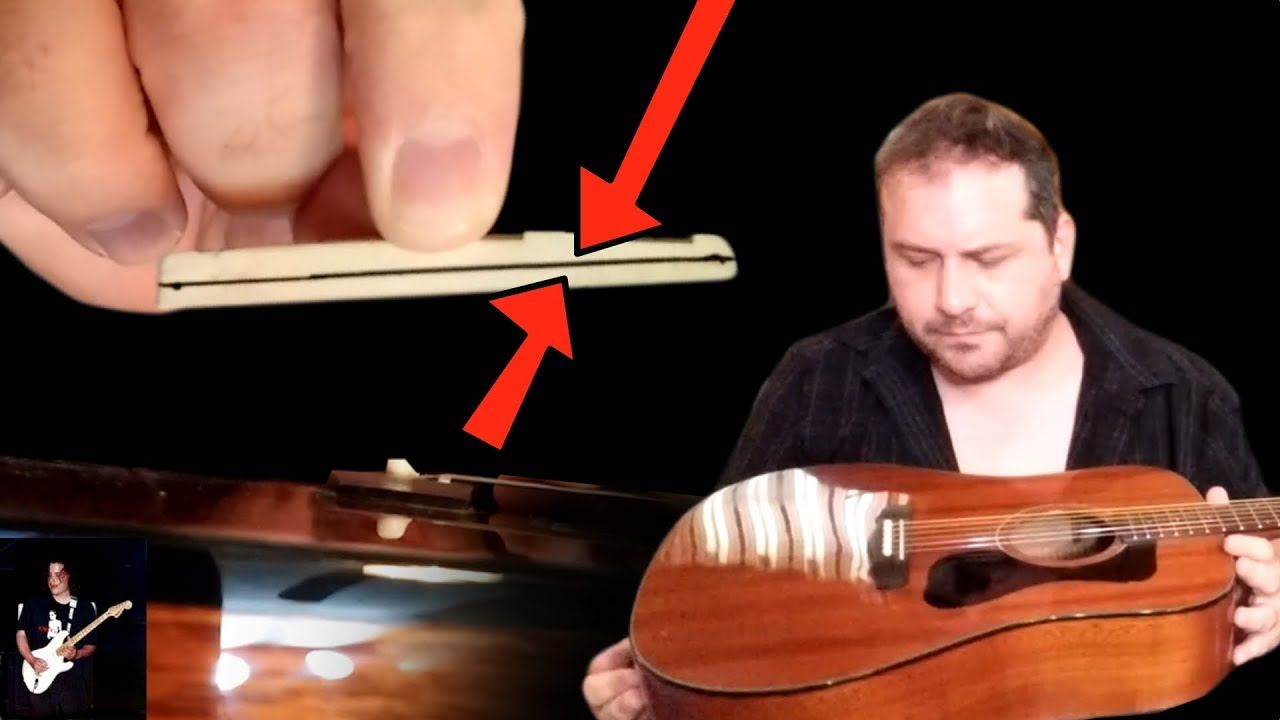 How to lower the strings on a acoustic guitar youtube