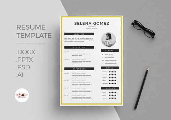 CV template , cover letter template/ professional cv template