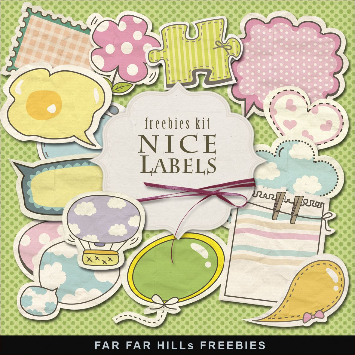 Freebies Babyish Style Labels:Far Far Hill - Free database of digital illustrations and papers