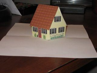 pop up hauskarte mit vorlage zum ausdrucken karten. Black Bedroom Furniture Sets. Home Design Ideas