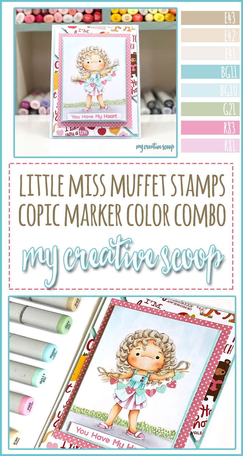 Little Miss Muffet Stamps Copic Marker Color Combo
