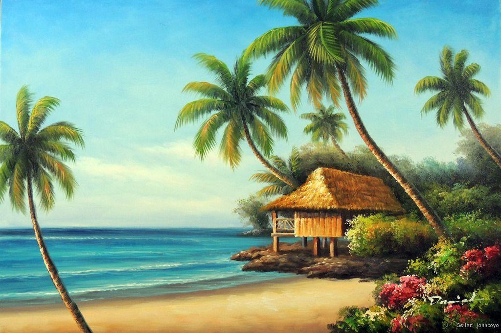 Hawaiian School of Fish Cartoon | Beach House Shore Hawaii Coast ...