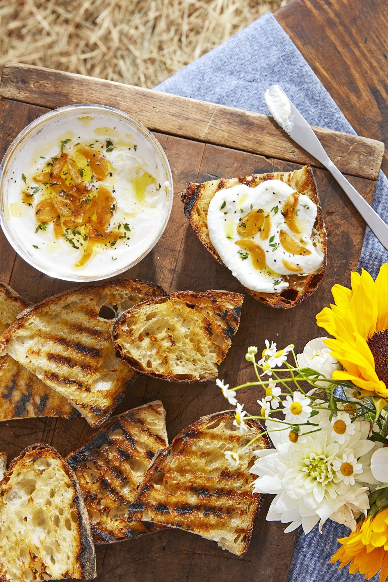 Whipped Ricotta and Grilled Bread Recipe in 2020