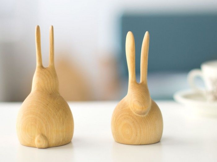 Kani / decorative handcrafted wooden rabbit