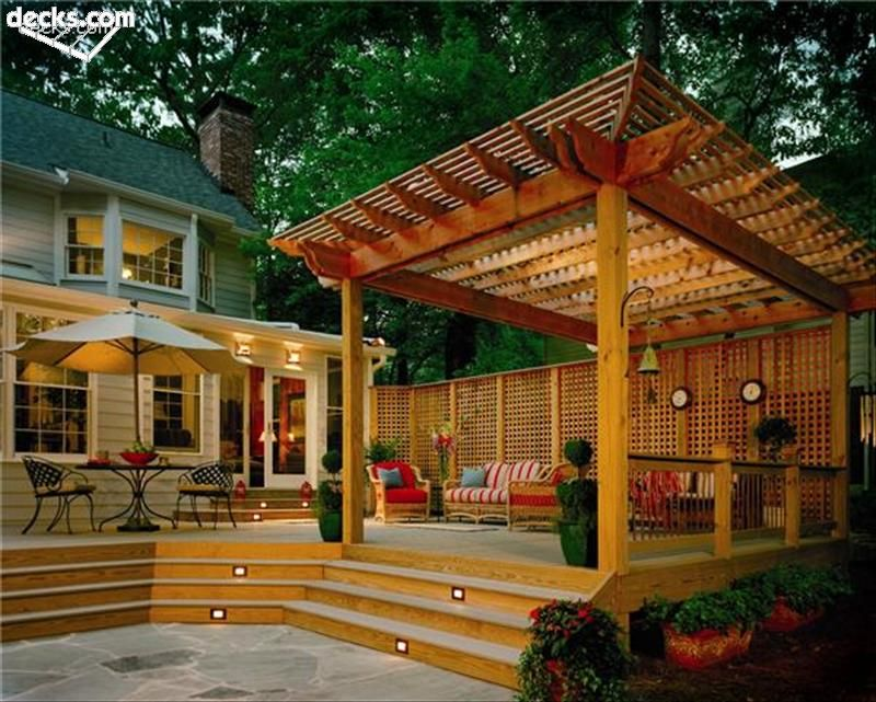 DIY Outdoor Projects for Your Deck - DIY Outdoor Projects For Your Deck Deck Pergola, Wood Decks And
