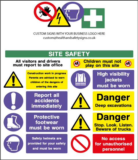 Construction Warning Signs Explained Legal Requirements Construction Safety Construction Signs Safety