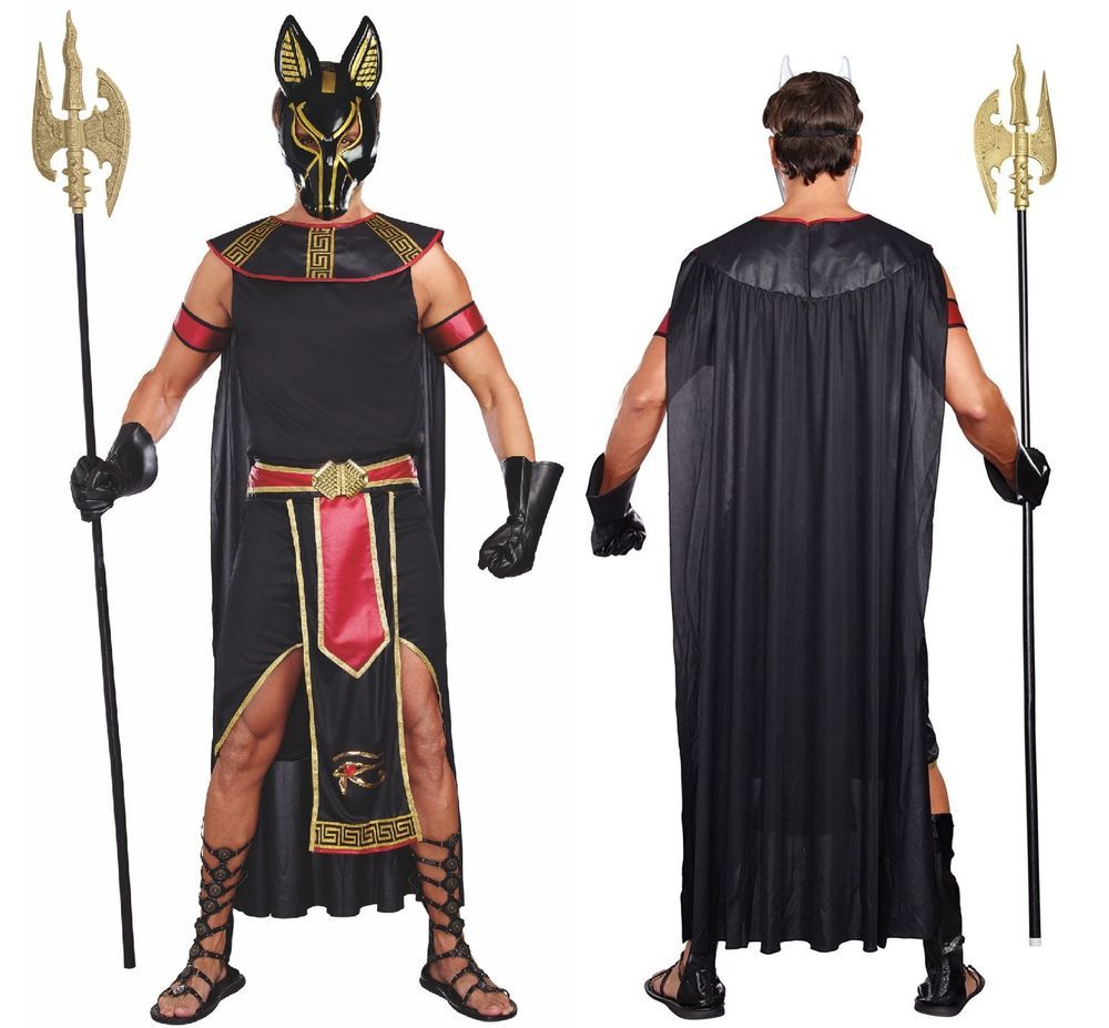 Egyptian God Anubis Costume Jackal Head Death Osiris Wolf Dead ...