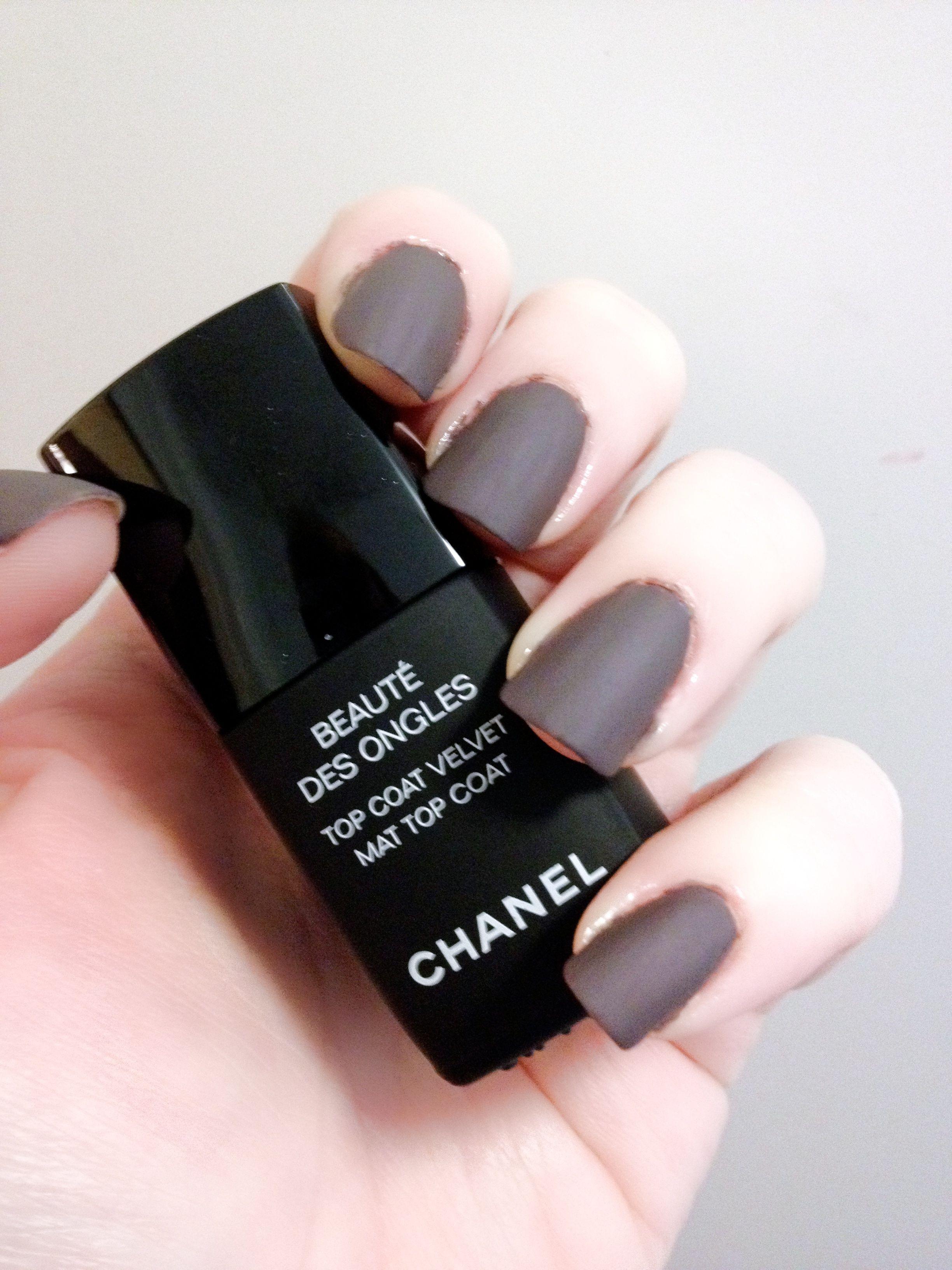 Best Chanel Black Matte Nail Polish Photos 2016 – Blue Maize | Nails ...
