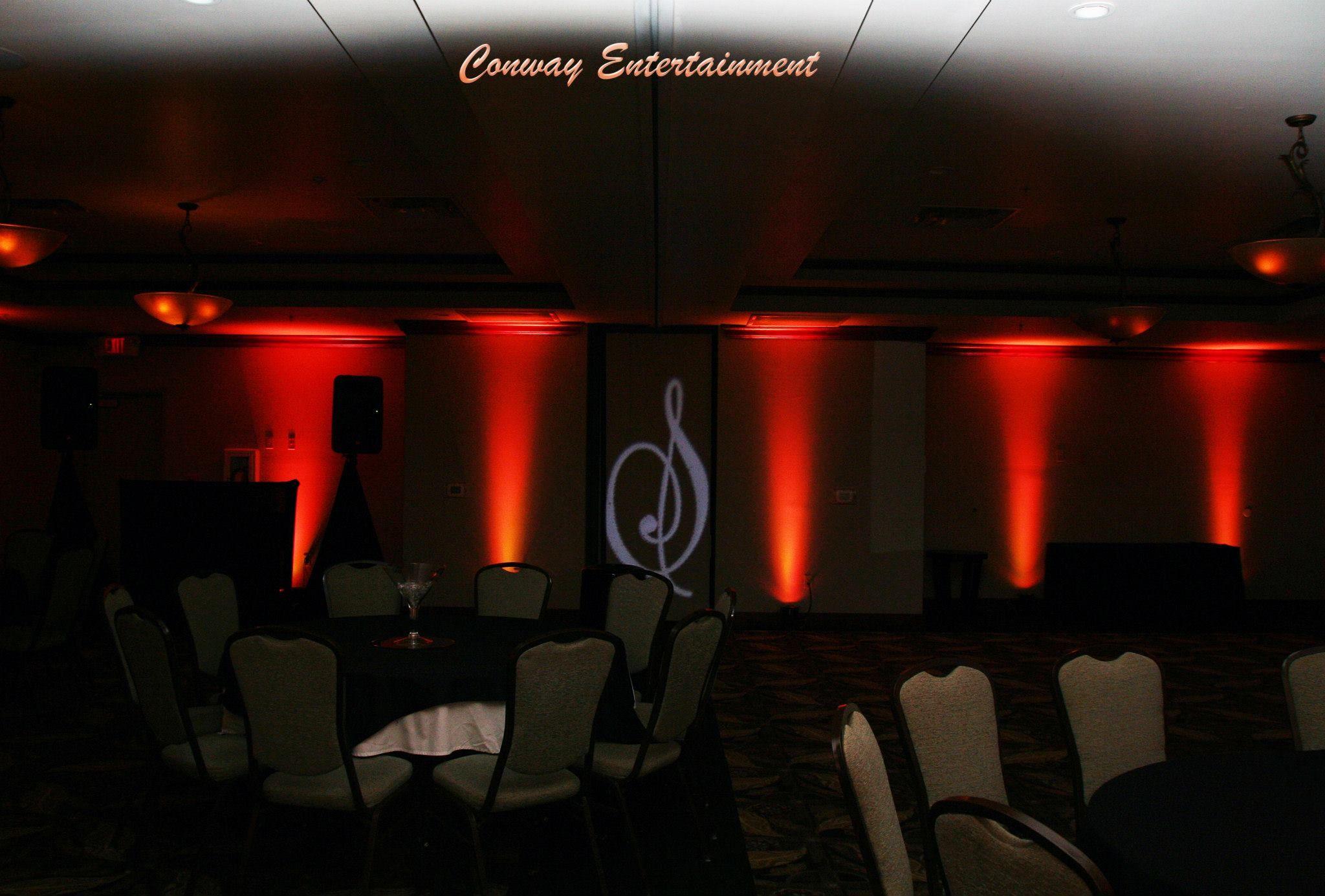 Orange Uplighting With S Gobo Lighting, At The Hilton Garden Inn   Conway.  Photo. Arkansas
