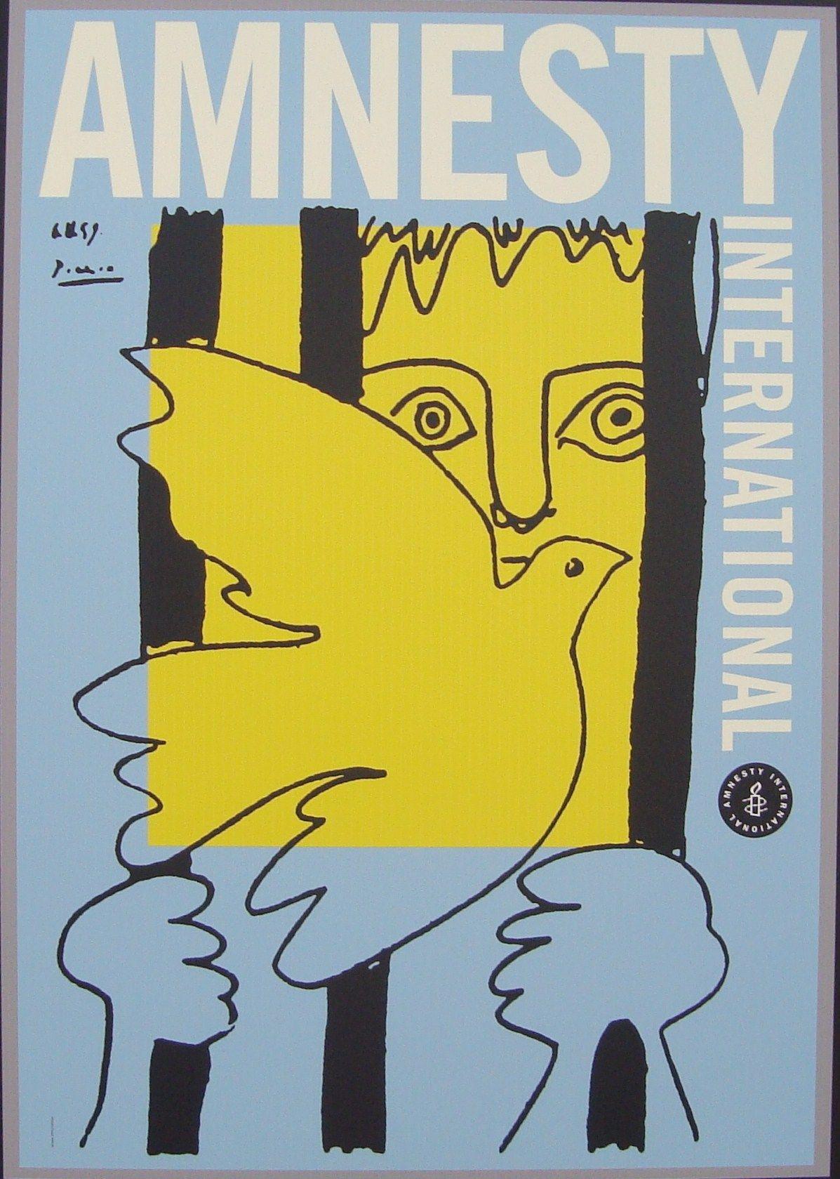 2000. AI EEUU   Litografía: Pablo Picasso y un dibujo de Pentagram, donado por Pablo Picasso.   Diseño Equipo de Woody Pirtle. Pentagram, NY.