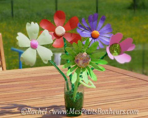 atelier cr atif fabriquer des fleurs d coratives avec des bouteilles plastique activit s. Black Bedroom Furniture Sets. Home Design Ideas