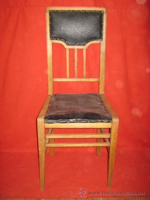 Juego de cuatro sillas modernistas antig edades for Muebles modernistas