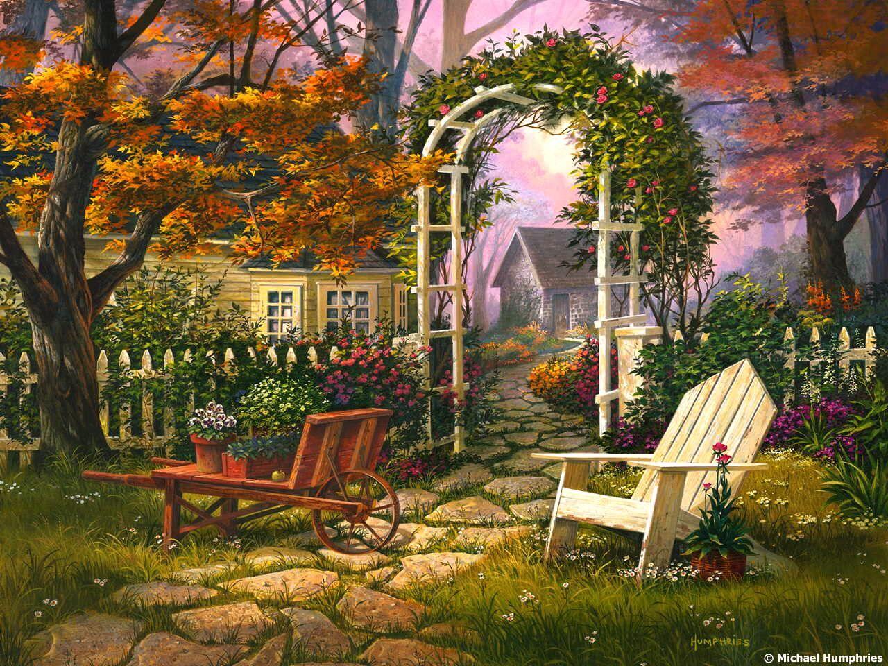 этой пейзаж в картинках садов позирует прозрачном нижнем