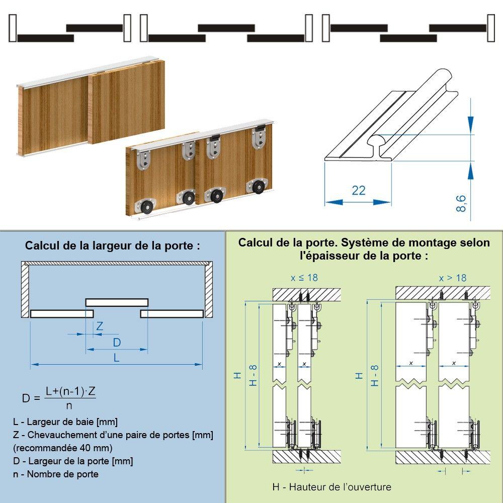 100 Fantastique Idées Porte Placard Coulissante Dimension