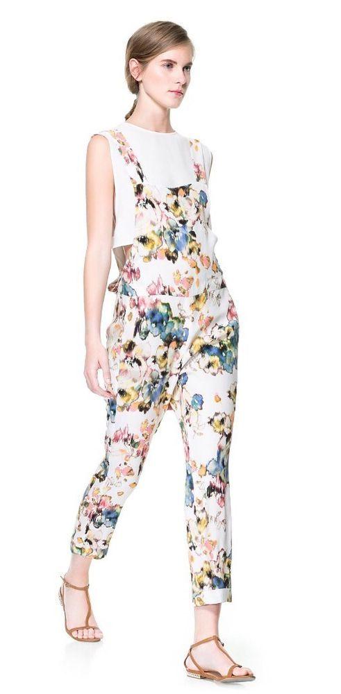 757d96de Flower power with Zara... Zara Floral Print Flowing Jumpsuit L #ZARA  #Jumpsuit