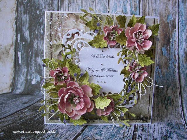 Elina Cardmaking Hobby: Wedding card
