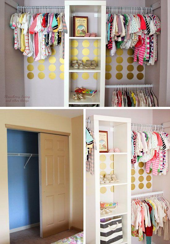 Small Closet Makeover 20 Diy Organization Ideas For Kids Storage Es