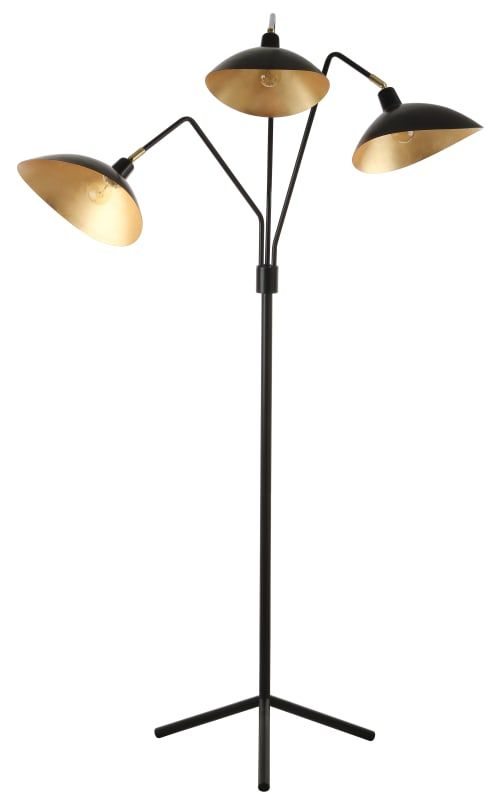 Safavieh Lit4361b Iris 3 Light 69 1 2 Tall Tree Floor Lamp With Metal Shades Lamps