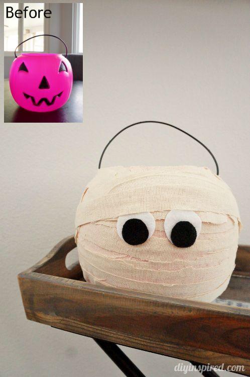 Plastic Trick or Treat Pumpkin Mummy Halloween fun, Holidays and - fun homemade halloween decorations
