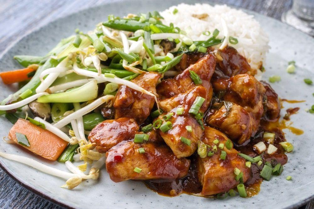 Szechuan Chicken Best Szechuan Chicken Chinese Takeout Recipe In 2020 Szechuan Chicken Chicken Recipes Boneless Chicken Recipes
