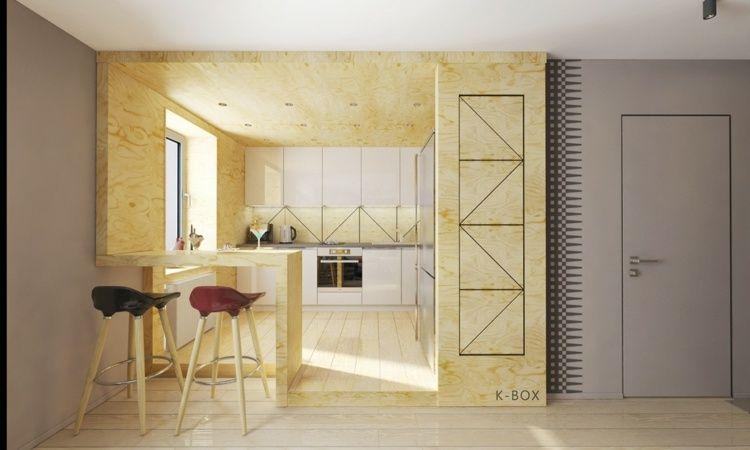 1 zimmer wohnung einrichten die k chenw nde sind mit. Black Bedroom Furniture Sets. Home Design Ideas