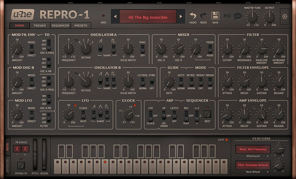 Repro Two classic analogue synths recreated uhe (With