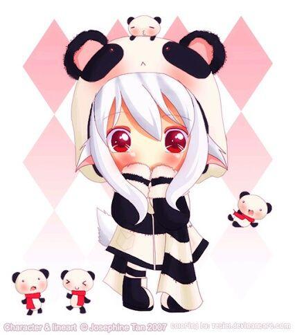 Image De Panda Kawaii And Anime Chibi Panda Manga Fille D