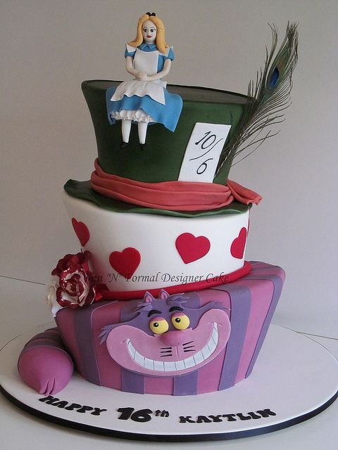 alice in wonderland birthday cakes