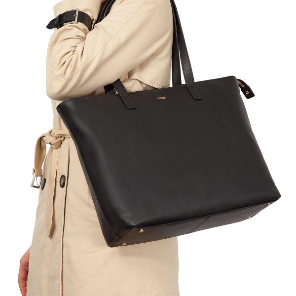 Maddox Women s Top Zip Tote Bag - Black  377b082e1d411