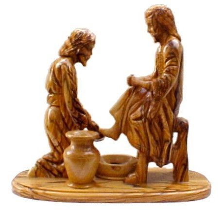 Remember your faith every day with Jesus Washes Pete... Check it out here http://iwannabeasaint.myshopify.com/products/jesus-washes-peters-feet-olive-wood-carving?utm_campaign=social_autopilot&utm_source=pin&utm_medium=pin