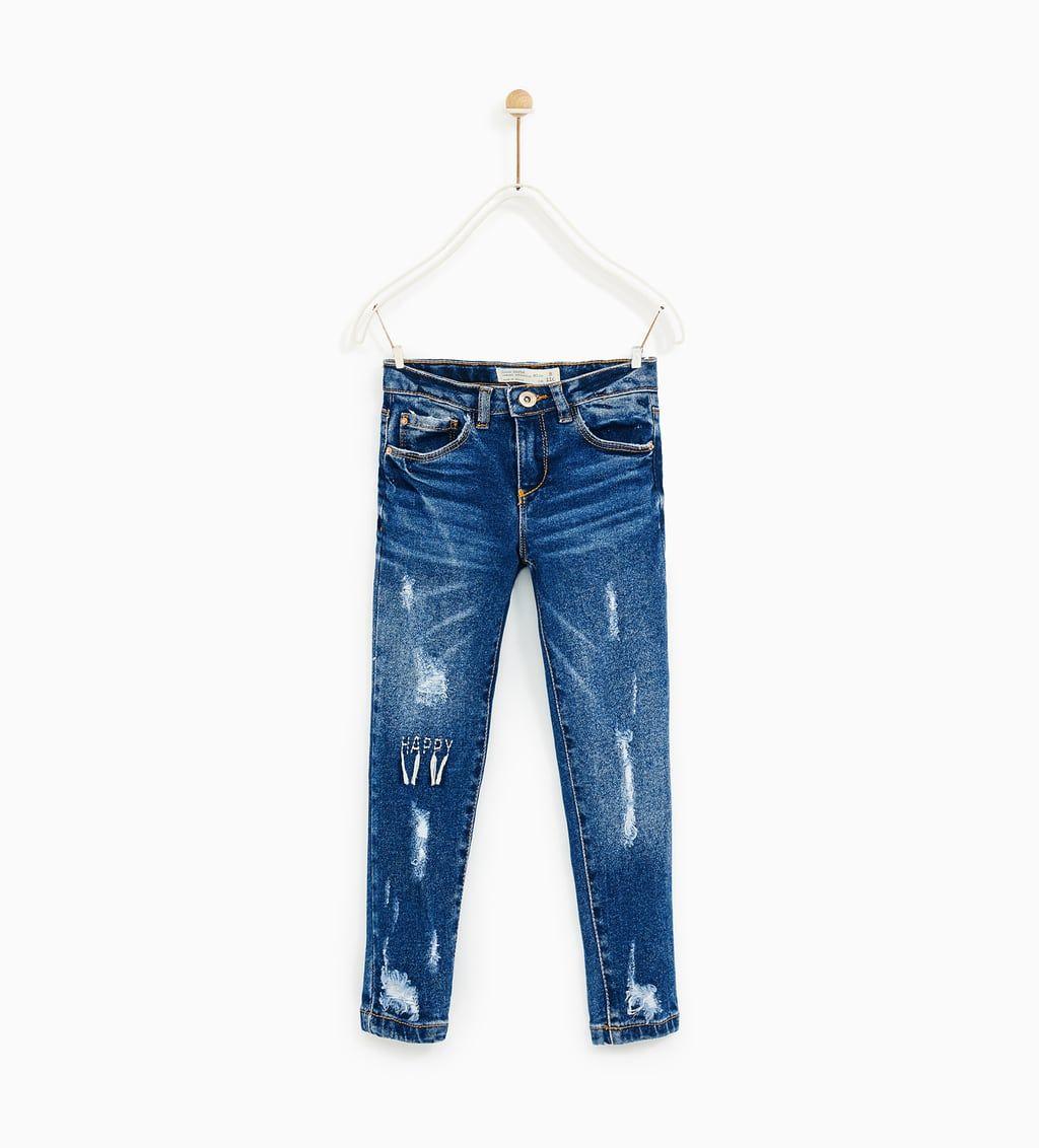 Imagen 1 De Jeans Rotos Happy De Zara Girls Jeans Zara Denim Details