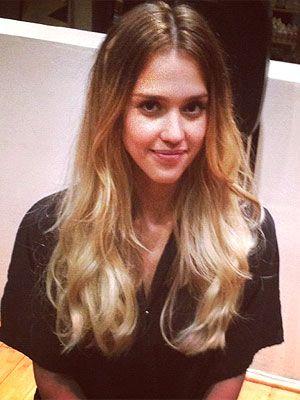 Jessica Alba goes super-ombre http://stylenews.peoplestylewatch.com/2012/08/27/jessica-alba-blonde-hair-sin-city/#