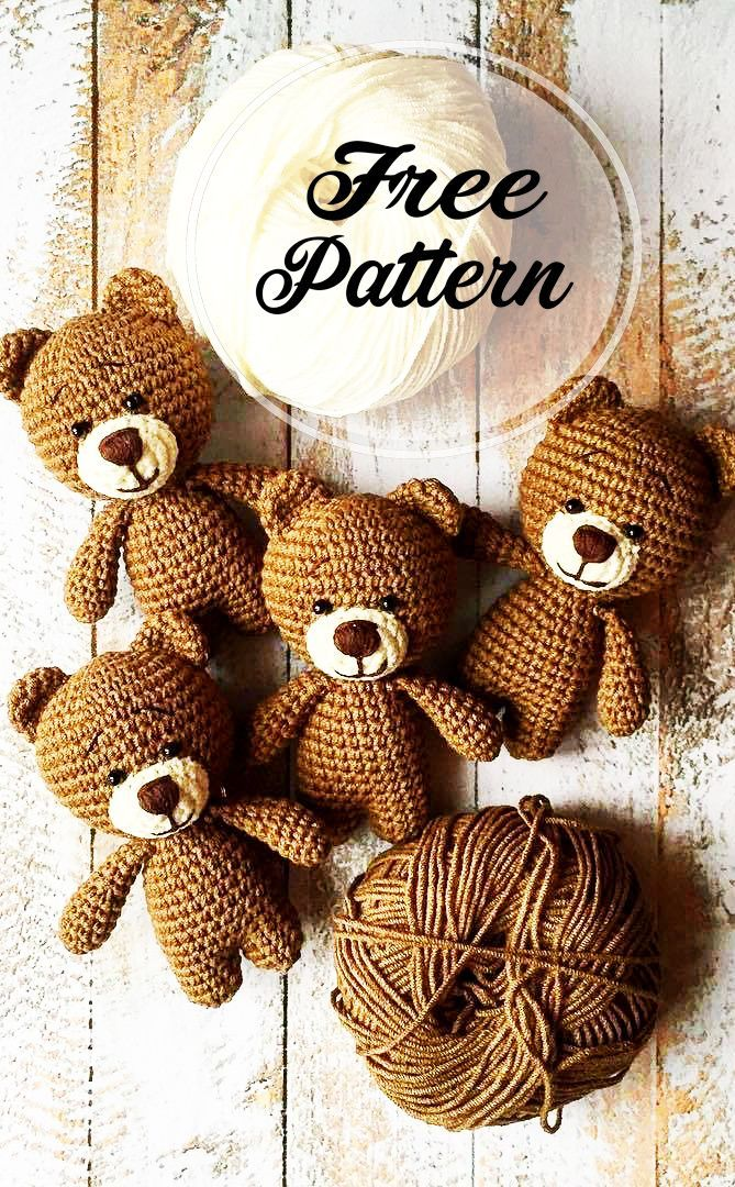 Photo of Awesome Free Crochet Teddy Amigurumi Bärenmuster – Kostenloses Amigurumi Muster, Amigurumi Bl…