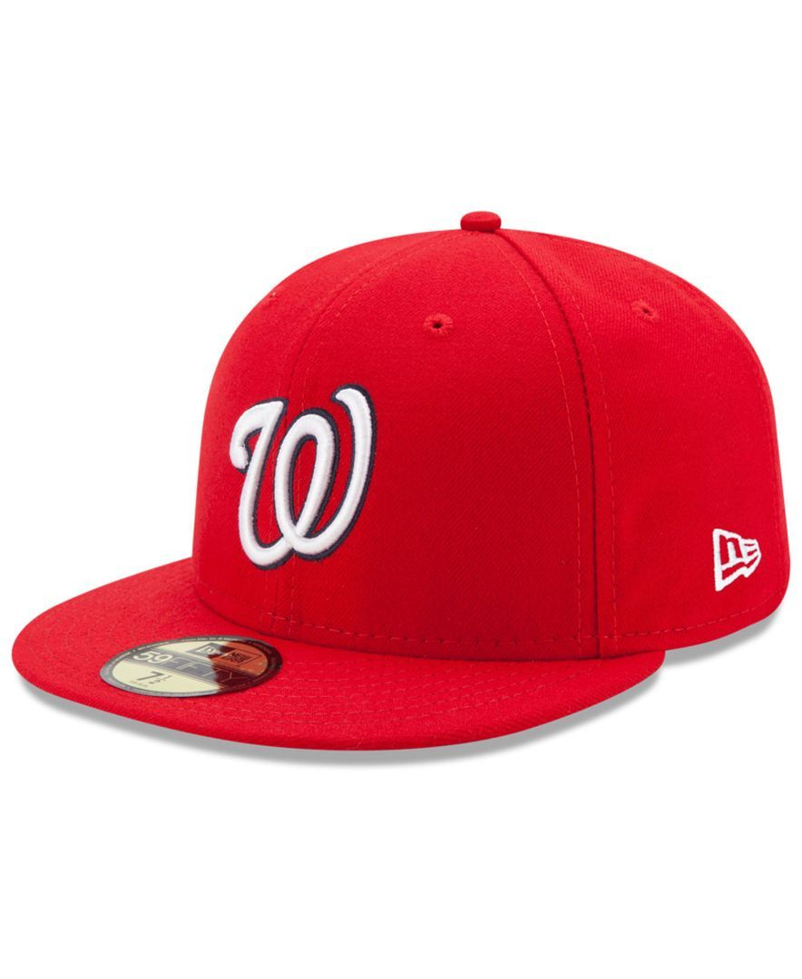 a856cdbb New Era Kids' Washington Nationals Authentic Collection 59FIFTY Cap