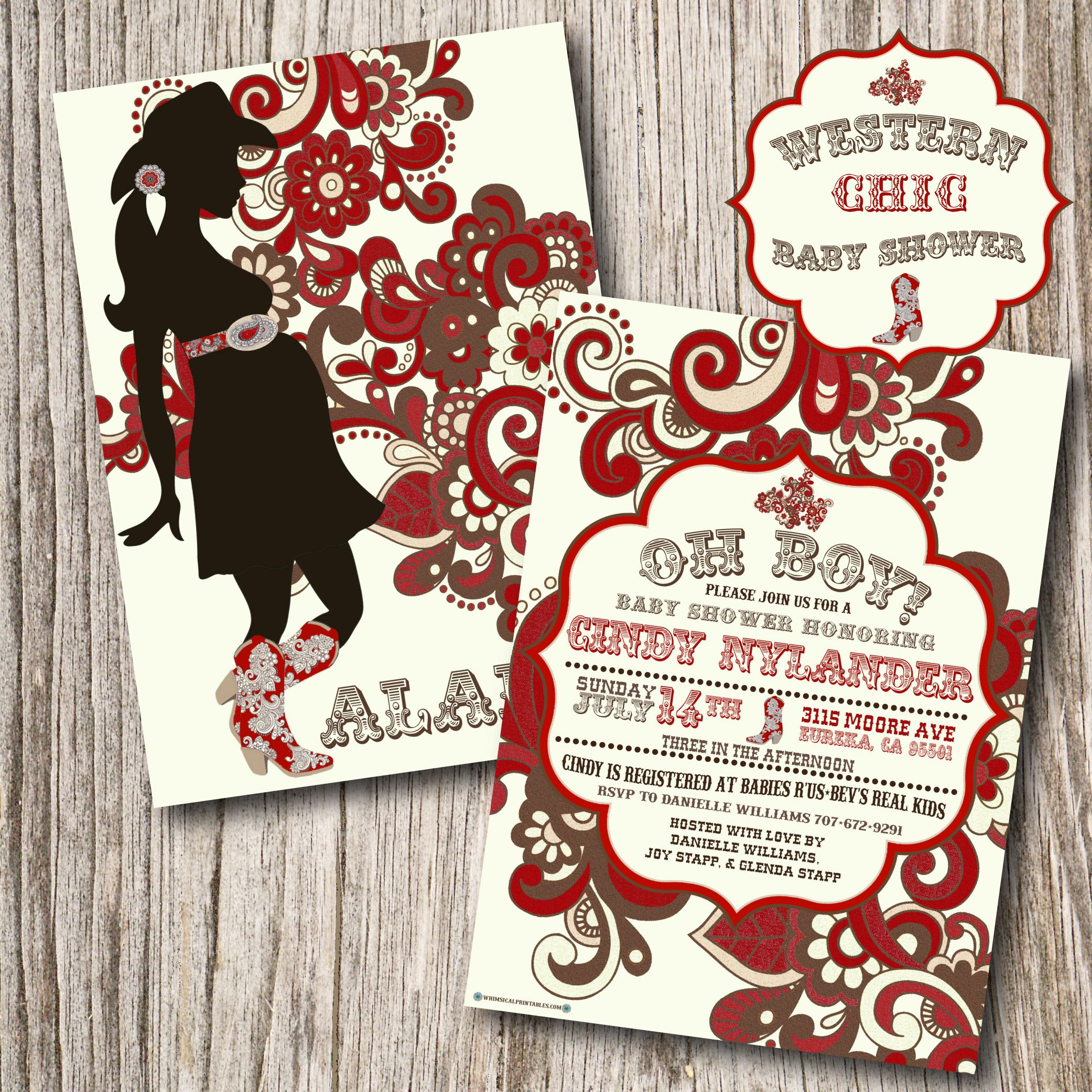 Lovely Natural Western Baby Shower Theme Ideas And Cowboy Themed Baby Shower  Invitation Wording