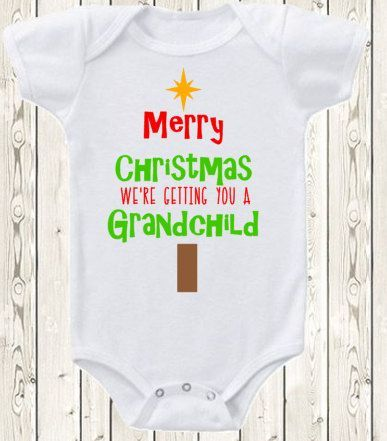 Christmas Pregnancy Announcement for parents by The1stYearBaby #valentines day pregnancy announcement grandparents mom Christmas Pregnancy Announcement for parents Christmas baby Announcement Idea  Pregnancy reveal gift to Grandparents  ONESIE ® brand shirt #grandpagifts