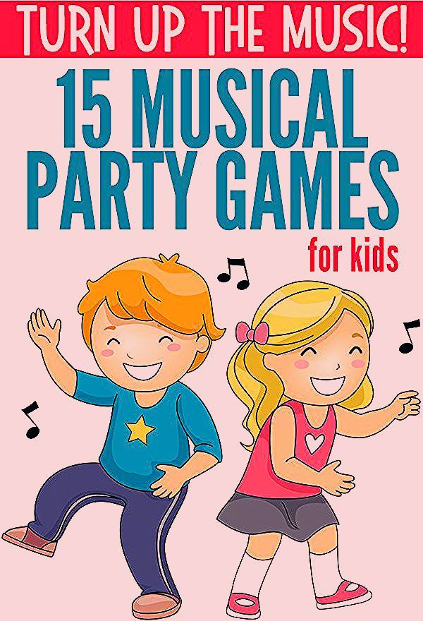 Photo of Musical Party Games for Kids. Fun for disco and dance parties.