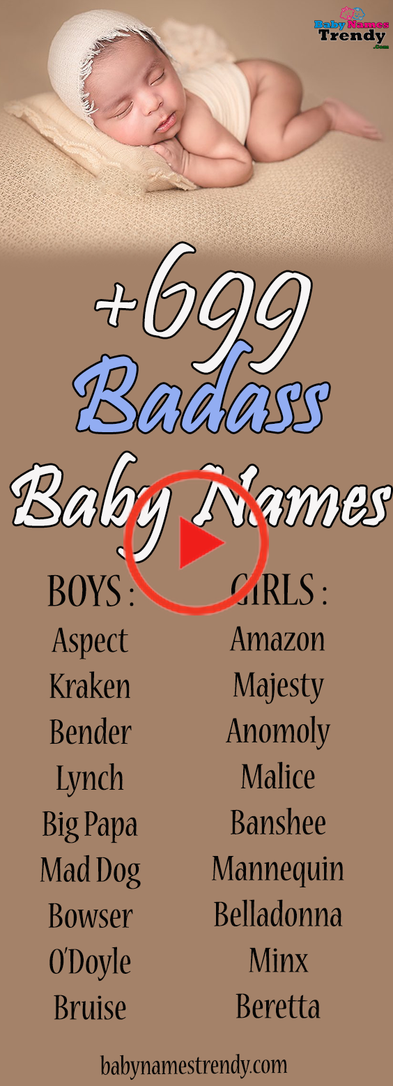 +699 Badass Baby Names for Boys and Girls nel 2020