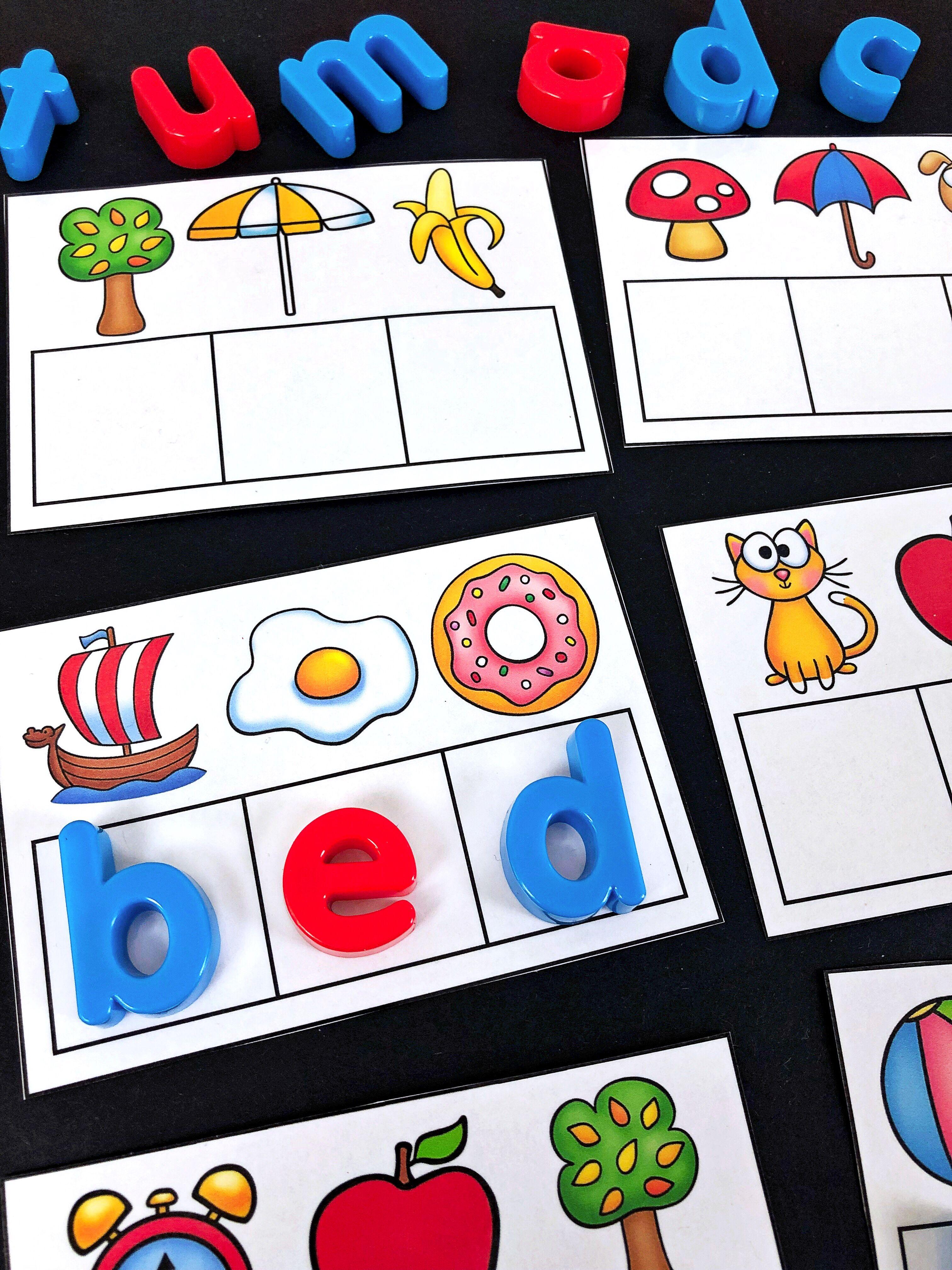 Secret Cvc Words Literacy Center Students Match The