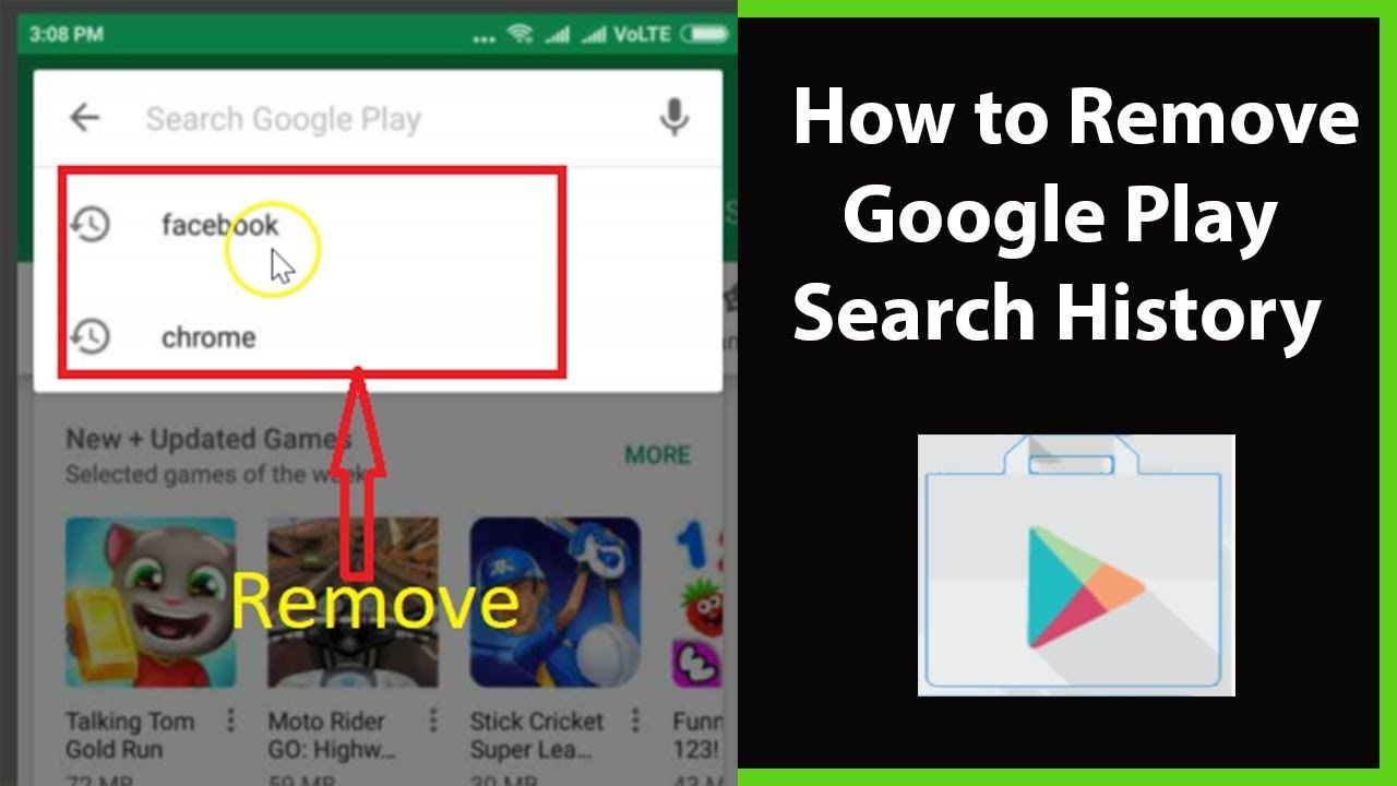 How To Remove Or Clear Google Play Search History On Android