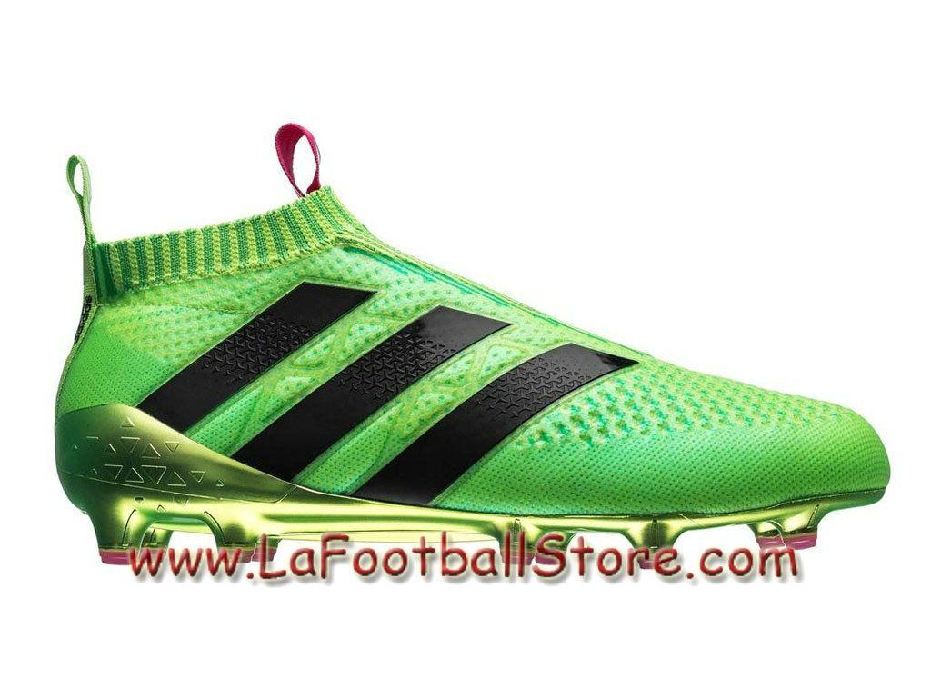 check out 583ba 403c8 Adidas Homme Football Chaussures ACE 16+ Purecontrol Primeknit Terrain  souple Solar Green