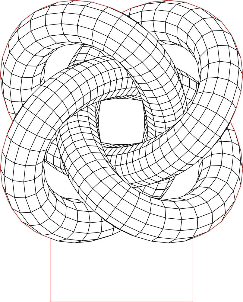 Torus Knot 5 3d Illusion Led Lamp Vector File Geometric Drawing Optical Illusions Art 3d Illusions